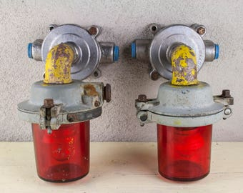Red Ship Lamps, Cilyndrical Signalization Lamps, Ship Lamps