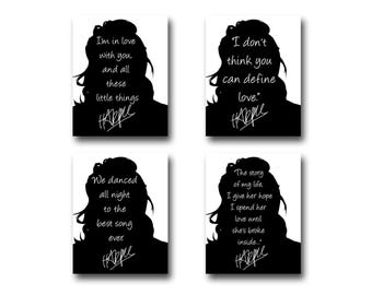 4 Harry Styles Quote Art Prints
