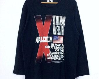 Vintage Malcolm X shirt Revolutionist Shirt Movie Shirt