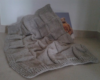 Handmade baby blanket for babies 0-3 years(and more); Knitted with a skin-gentle yarn.Measure: 1.for cradle and stroller; 2. for baby bed.