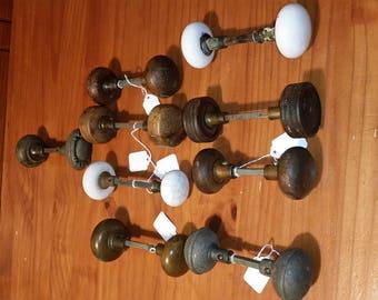 9 Sets of Vintage Door Knobs