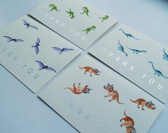 Hand Painted Watercolour Cards - Set of 4 - Extinct Collection