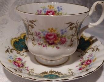 Royal Albert Berkeley Tea Cup and Saucer Bone China England