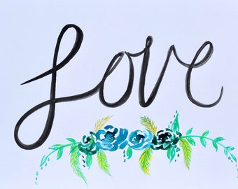 Love Original Watercolor