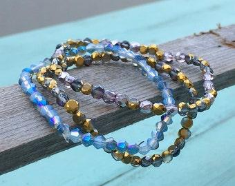 Dainty Bracelet Set - Bridesmaid Bracelet - Jewelry - Bracelets - Bohemian Jewelry - Boho Bracelet - Bracelets for Women - Everyday Bracelet