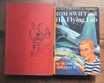 YA Fiction Tom Swift and His Flying Lab and Danny Dunn and the Anti-Gravity Paint 1950s Vintage Juvenile Science Fiction