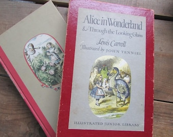 Alice in Wonderland Vintage Children's Classic Lewis Carroll 1946 Slip Cover