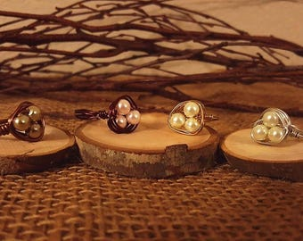 Bird Nest Rings, Birds Nest Rings, Rings, Nest Rings, gold ring, brown ring, silver ring, brass ring