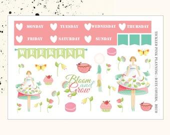 BLOOM AND GROW | Deco & Date Covers | Planner Stickers | Erin Condren Vertical