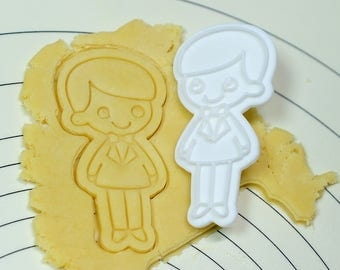 Cute Bridegroom Cookie Cutter and Stamp