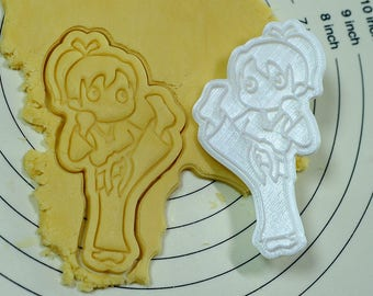 Taekwondo(태권도) Girl Cookie Cutter and Stamp