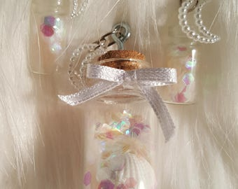 """Jewelry set """"Mermaid Scales"""" 2 earrings + 1 trailer"""