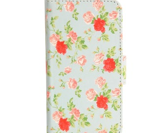Vintage Flower Floral Shabby Chic Print Flip Wallet Case Cover for iPhone 6 and 6S Plus