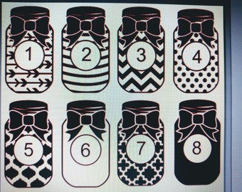 Monogram Mason Jar Decal