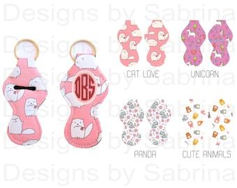 CATS-UNICORN-PANDA-Cute Animals Chapstick Holder-Lip Balm-Chapstick Holder-Flowers-Keychain-Keychain-Lipstick-Chapstick-Cute Animals