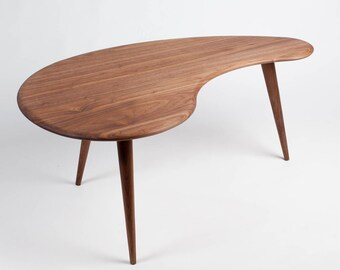 Mid Century Coffee Table. Kidney Bean Shape