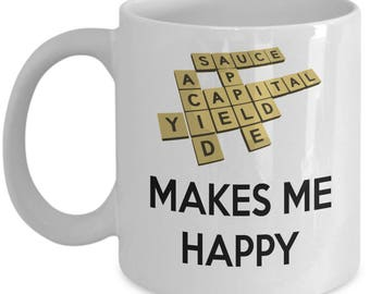 Scrabble Lover's Coffee Mug - Tea Cup - Hot Chocolate Mug - Gift for Scrabble Lover