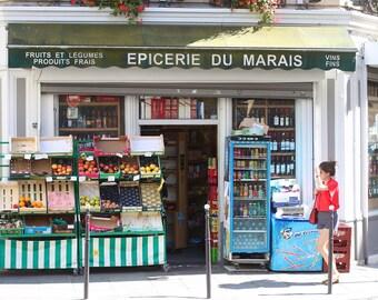 Paris Photography, Le Marais, Paris Wall Art, Street Photography, BonneRoutePhotos