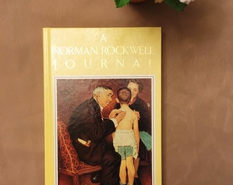 Norman Rockwell Journal, Vintage Notebook, diary, craft paper, journaling