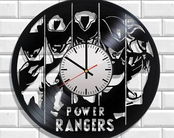 Original Design wall clock Power Rangers