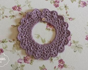 Purple baby peterpan collar