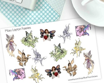 Faerie art by Mary Layton Spring Stickers