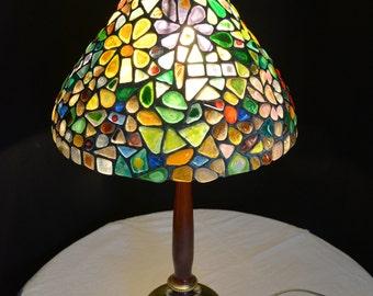 Mosaics Stained Glass Tiffany Lamp  No.6, Decorative Tiffany Lamp