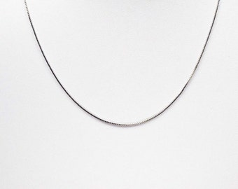 """925 Sterling Silver 16"""" 1mm Box Chain Necklace"""