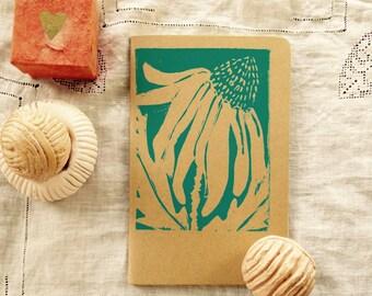 Echinacea Linocut Moleskine Lined Journal