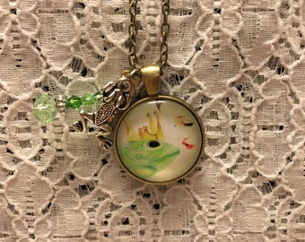Kiss the Frog Prince Charm Necklace/Kiss a Frog Necklace/Frog Prince Necklace/Frog Prince Jewelry