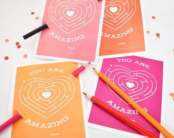 You Are Amazing - Children's Valentines (Downloadable)