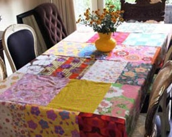 Table cloth, table cloth Patchwork-Retro