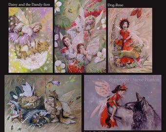 Fairy-themed greeting cards – pack of five.