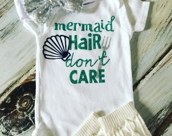 Infant Toddler Youth Mermaid Hair Don't Care