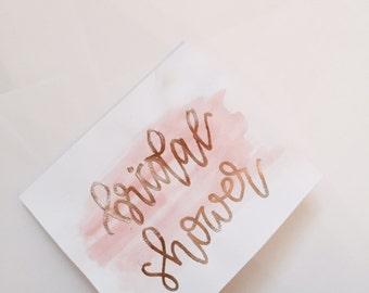 Hand Lettered Bridal Shower Card Set