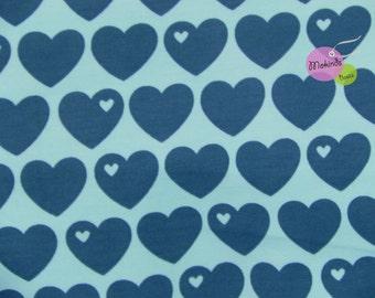 Sweat heart blue aqua petrol by Graziela retro