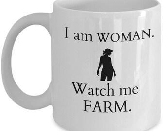 Farmer Woman Mug, Women Farmer Mug, Farm Girl Mug, Farmers Wife, Farm Wife, Mug for Farmer Girl, Mug for Farmer Wife, Farm Girl, Farmer Wife