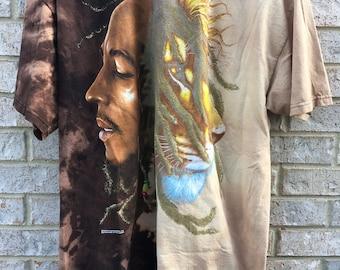 Vintage Inspired Bleached Bob Marley Shirt