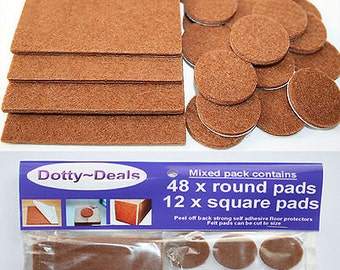 Self Adhesive Protective Wooden Flooring Protection Felt Protect Pads 60 Mixed