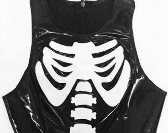 BAD BONES Black PVC Top