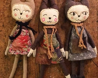 Cloth Dolls - Cat People