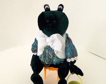 collectable doll Tilda decor Art Cloth frog Jeremy Fisher