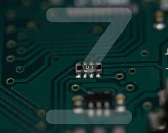 Electronic component 103 macro photography - Arduino Raspberry Pi