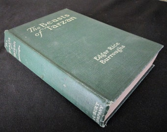 1916 Vintage Book THE BEASTS of TARZAN Edgar Rice Burroughs Early Reprint