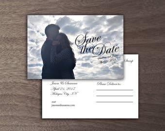 Custom Save the Date Postcard - DIGITAL