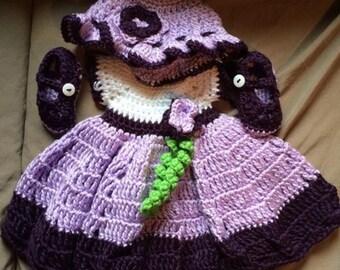Crocheted Newborn Dresses