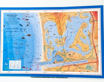 San Diego Mission Bay placemats (set of 4)