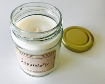 Lavender scented soy candle