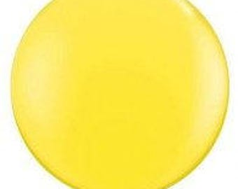 Jumbo  Round 90cm Balloon  Yellow