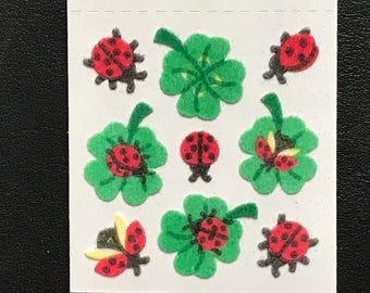 Sandylion Stickers Scrapbooking vintage Fuzzy Lady Bug, Bugs    (1 mod)
